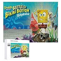 Spongebob ジグソーパズル 1000ピース 絵画 学生 子供 大人 向け 木製パズル TOYS AND GAMES おもちゃ 幼児 アニメ 漫画 プレゼント 壁飾り 無毒無害 ギフト
