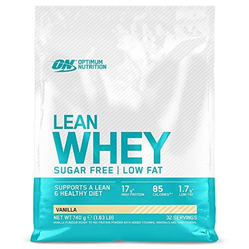 Optimum Nutrition Lean Whey senza Zucchero, Proteine del Siero del Latte, Basso Contenuto di Grassi, Proteine con Vitamine e Minerali, Vaniglia, 32 Porzioni, 740 g