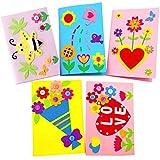 Kit de Manualidades para Niños, Yuccer Manualidades Infantiles Tarjetas Dia de la Madre Personalizadas Tarjeta Felicitacion Madre