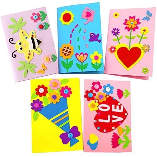 Yuccer Kit de Manualidades para Niños, Manualidades Infantiles Tarjetas Dia de la Madre Personalizadas Tarjeta Felicitacion Madre