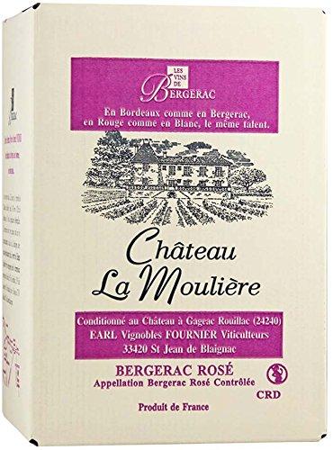 Château La Moulière A.O.C. Bergerac Rosé Bag-in-Box Roséwein trocken (1 x 5l)