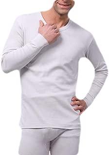 Macondoo Men 2 Piece Long Sleeve Long John Set Winter Warm Thermal Underwear