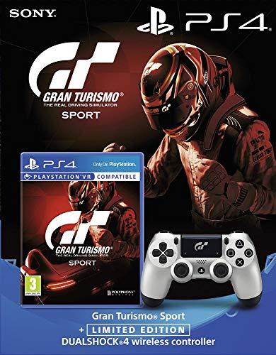 Gran Turismo Sport + DualShock 4 Silver GT Sport + Qui es-tu...