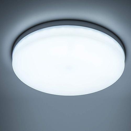 Yafido Plafonnier LED 48W UFO Panel Rond Lampes de Plafond Moderne Ultra-mince LED Lampe 4320LM Blanc Froid 6500K Fac...