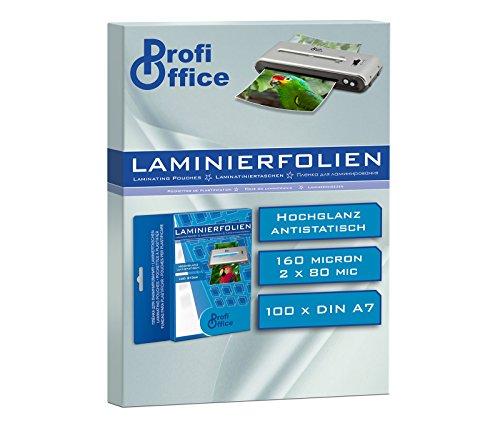 ProfiOffice® Laminierfolien, DIN A7, 2 x 80 Mikron, 100 Stück (19000)