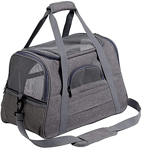 WWQQ Mochila portátil para mascotas transpirable,Bolsa de transporte para gatos,Transporte aprobado por la aerolínea para gatos perro pequeño