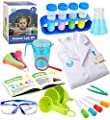 UNGLINGA Kids Science Experiment Kit with Lab Coat Scientist Costume Dress Up and Role Play Toys Gift for Boys Girls Kids Age 5 - 11 Christmas Birthday Party from UNGLINGA