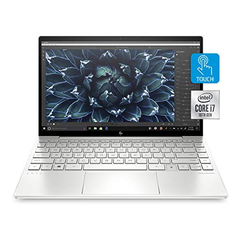 "HP Envy 13 Laptop, Intel Core i7-1065G7, 8 GB Ram, 256 GB SSD Storage, 13.3"" Full HD Touchscreen, Windows 10 Home, Fingerprint Reader..."
