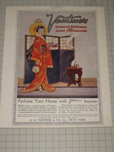 1920 Vantine & Co. Oriental Perfumes with Geisha Girl - Perfume Ad
