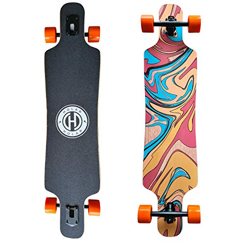 Holar Drop Through Longboard – 42-inch Maple Longboard for Girls and...