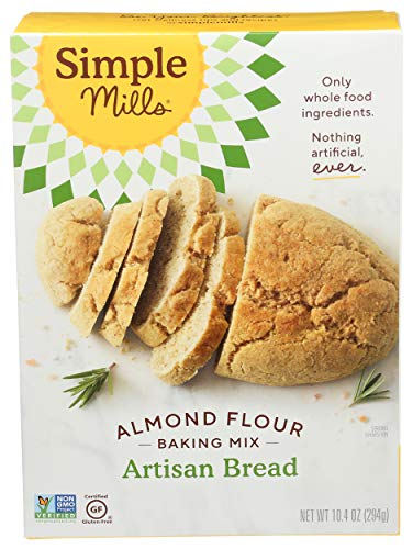 Simple Mills Almond Flour Baking Mix, Gluten Free Artisan Bread Mix, Made with whole foods, (Packaging May Vary), 10.4 Ounce (Pack of 1)
