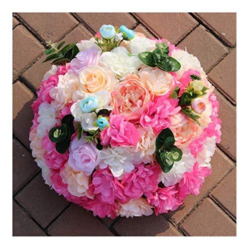 JiaQinHe Restos Flor Artificial Rose de Seda Boda del Hydrangea Carretera Citado Decoración Falso Bola de Las Flores a Gran Escala Estadio T Decoración Nunca
