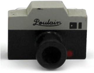 Creative Retro Mini sello Lovely decoración Crudo cámara de fotos de madera sello sello rojo punto