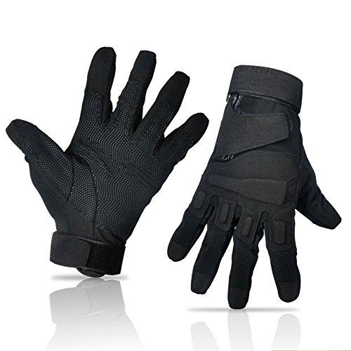 TrendenZ Men's Full Finger/Half Finger Light Assault Gloves Tactical Military Combat Army Shooting Gloves (Black, Armygreen)