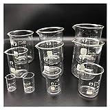 WBJLG 10 Unids/Set Vaso de Vidrio de Laboratorio de Experimento de Química para Equipo de Laboratorio Escolar