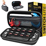 Orzly Carry Case for Nintendo Switch Lite - Portable Travel Carry Case with Storage for Switch Lite Games & Accessories [Grey] case tab Dec, 2020