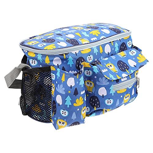 TOYANDONA Bolsa de Pañales para Bebés Bolsa de Cochecito Carrito de Pañales Bolso Oxford para Pañales de Bebé Bolsa para Cochecito de Bebé para Pañales Toallitas Juguetes ( Azul )