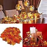 GiBot 400 Stück sortierte farbige Ahornblätter künstliche Herbstkunst Ahornblätter Tischdeko für Halloween, Thanksgiving, Hochzeiten, Zuhause, Innen- und Außendekoration - 9