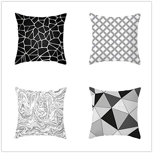 4 Pcs Cushion Covers Decorative Throw Pillow Cover Geometric Square Triangle Square Velvet Soft Throw Pillow Case Sofa Car Pillowcase for Living Room Couch Pillowcases Decor T3523 35x35cm/13.7x13.7in
