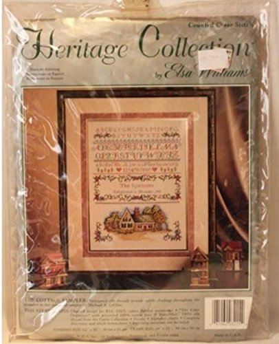 Heritage Collection By Elsa Williams Counted Cross Stitch the Cottage Sampler