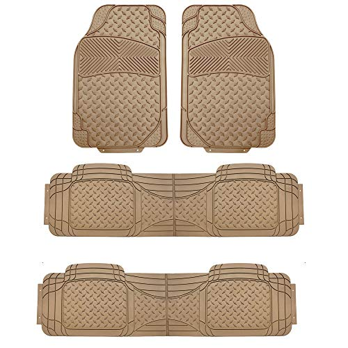 FH Group F11307BEIGE-3ROW Beige-3 Row F11307BEIGE Trim to Fit Weather SUV Floor...