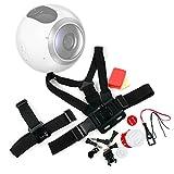 DURAGADGET Kit de Accesorios para cámaras Deportivas Samsung Gear 360 / Ricoh WG-M2 / Gearmax W8 WiFi/SJCAM SJ5000 Plus