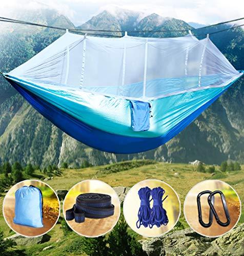 Idefair Hamaca con mosquitera, hamacas para acampar dobles B