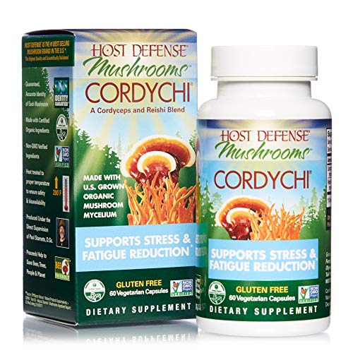Host Defense, CordyChi Capsules, Helps Reduce Stress and Fatigue,...
