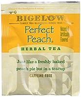 Bigelow Perfect Peach Herbal Tea ビゲローパーフェクトピーチハーブティーカフェインフリー20杯分x3個