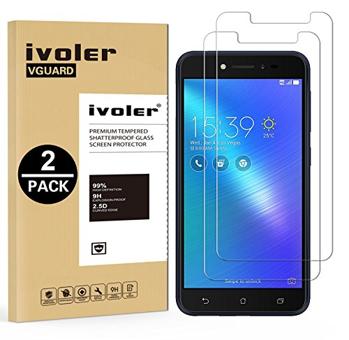 iVoler [2 Pack] Pellicola Vetro Temperato per ASUS ZenFone Live ZB501KL 5.0'', Pellicola Protettiva, Protezione per Schermo