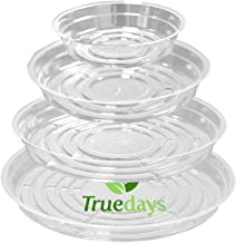 TRUEDAYS 20 Pack(6 inch/8inch/10inch/12inch) Clear Plant Saucers Flower Pot Tray Excellent for Indoor & Outdoor Plants