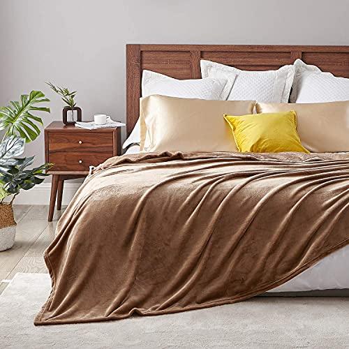 Hansleep Kuscheldecke Kamel 150x200 cm Wohndecke Fleecedecke extra Weich und Warm Sofadecke/Couchdecke Flauschige Decke Mikrofaser Bettüberwurf Tagesdecke