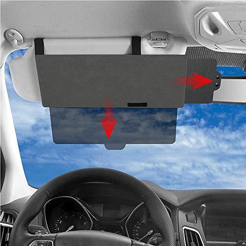 Junzheng Blendfreie Sonnenblendenverlängerung für Autofenster,Auto Innere Sonnenblende Sonnenschutz,Anti-Blend Anti-grell Sonnenschutz für Vordersitz-Fahrer und Beifahrer(Transparent)
