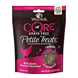 Wellness Petite Treats Small Breed Crunchy Natural Grain Free Dog Treats, Chicken & Cherries, 6-Ounce Bag