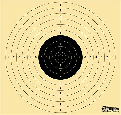 Große *Standard Target XLS* / 54x52 cm/geschlitzt / 200 g/m² Chamois (20 Stück)