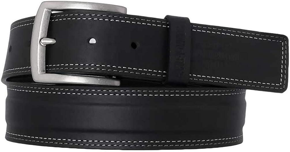 Harley-Davidson Men's One Lane Genuine Leather Belt - Antique Nickel Finish