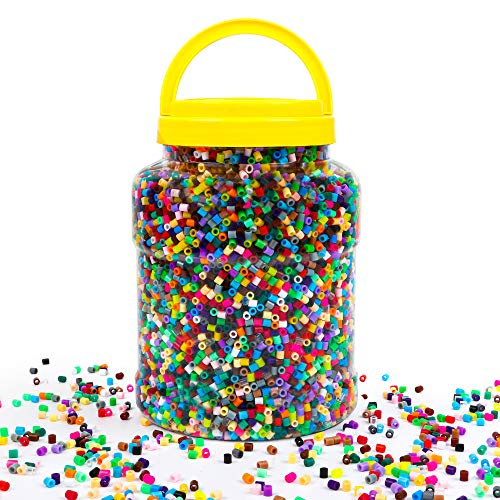 Fuse Beads, 23,000 pcs Multicolor Fuse Beads Kit for Kids Crafts, 5MM 30 Colors Melty Beads Including 3 Pegboards, 5 Ironing Paper, 10 Patterns for Boys and Girls, Works with Beads by INSCRAFT