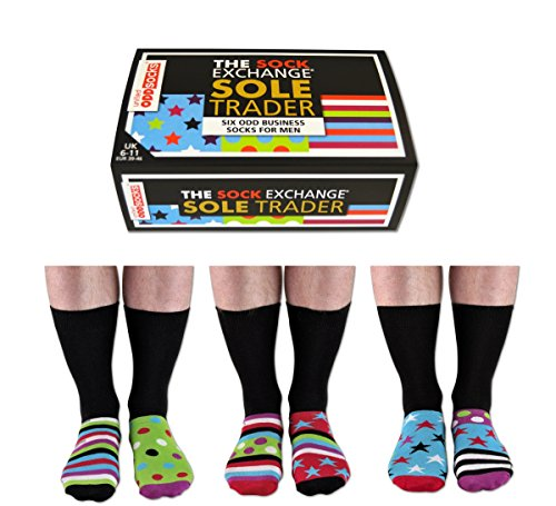 """Boîte de Chaussettes """"Sock Exchange Sole Trader"""" (chaussettes pour hommes)"""