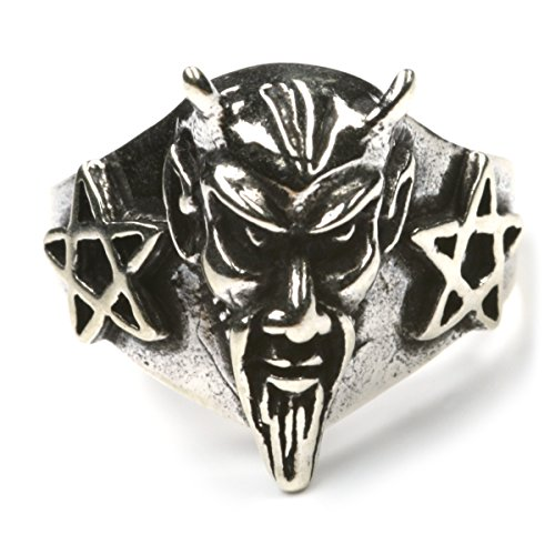 Drachensilber Ring Teufel 925 Silberring Damenring Herrenring Motiv Teufel Gr 60