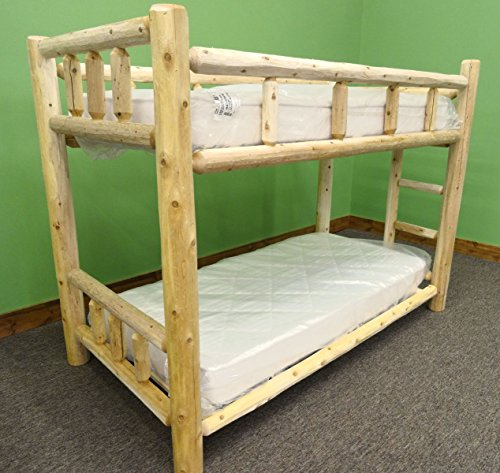 Midwest Log Furniture - Premium Log Bunkbed - TwinXL Over TwinXL