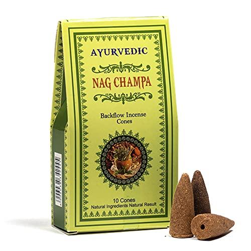 Yogabox - Conos de incienso ayurvédico Reflux Nag Champa