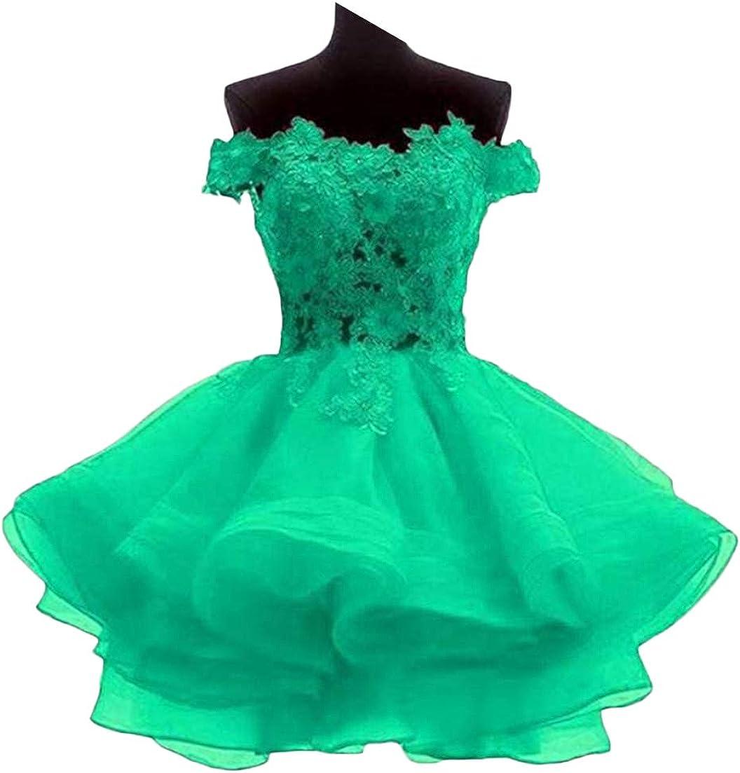 Tsbridal In stock Women's Product Off The Shoulder Dress Birdesmaid Short Organza
