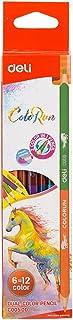Deli 1 Set/6Pcs 12 Colors Colored Pencil Student Children's Art Painting Color Pencil Student Stationery