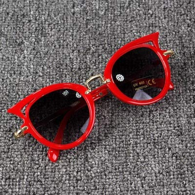 xingxing Gafas de sol de neón con protección UV400 para niños y niñas (color del marco: otro, color de las lentes: rojo)