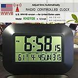 YITEJIA versátil Gran Pantalla LCD Digital Reloj de Pared de la Temperatura del termómetro Alarma de Radio controlado Reloj RCC Tabla Calendario de Escritorio for Office Home School