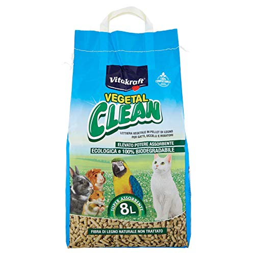 Vitakraft - Lecho para roedores vegetal clean universal 8 litros ✅