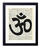 Om Symbol Upcycled Vintage Dictionary Art Print 8x10