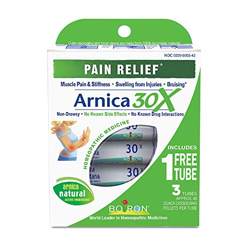 Boiron Arnica Montana 30X Pain Relief Medicine 3 Count Homeopathic, 3 Count (Pack of 1)