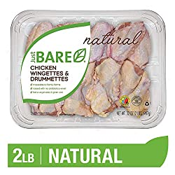 Just BARE Natural Fresh Chicken Wingettes & Drummettes | Family Pack | Antibiotic Free | Bone-In | 2