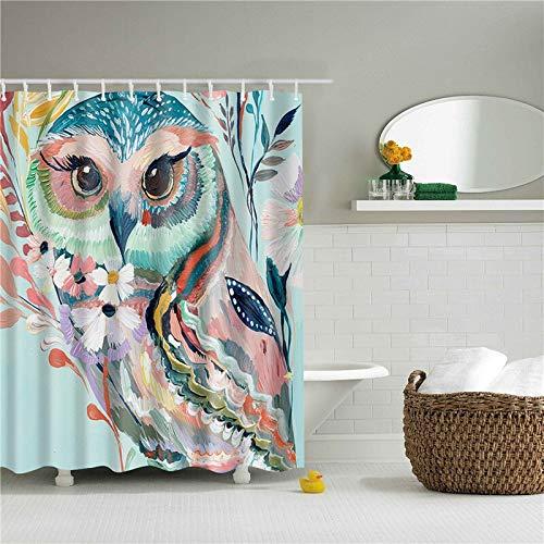 kdjshhs Duschvorhang Tiere Muster Eule Adler Polyester Duschvorhänge Waschbar Hochwertige Bunte Vorhänge Für Bad Dusche 180X200 cm C